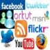 twinester, orkut, msn, twitter, Blog, facebbok, flickr, youtube, Rss e outr